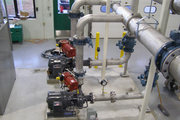 Hydroturbines in water-to-wire energy recovery project in Keene