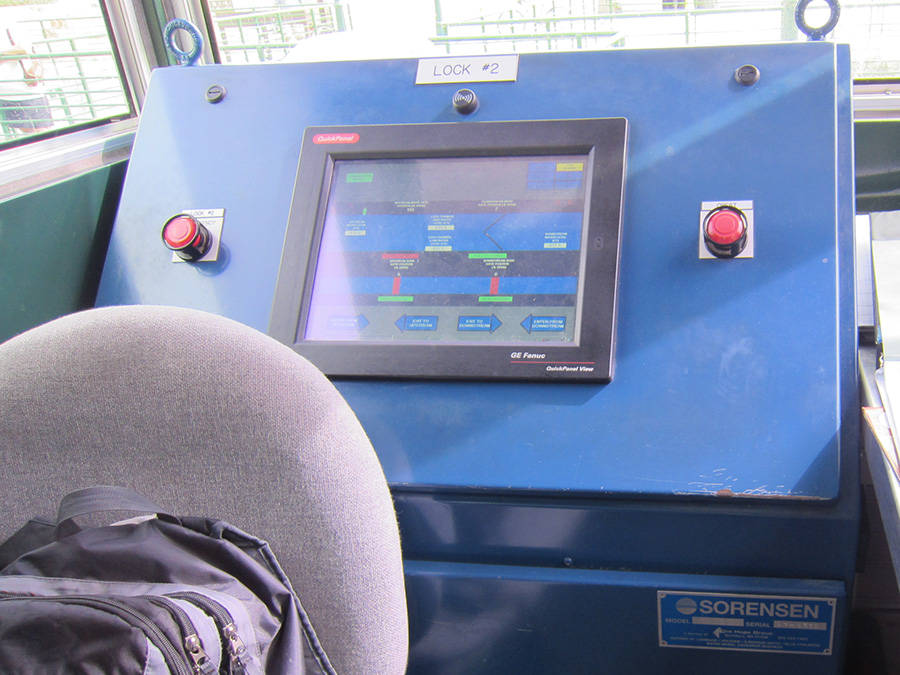 HMI Touchscreen for lock and dam operating system