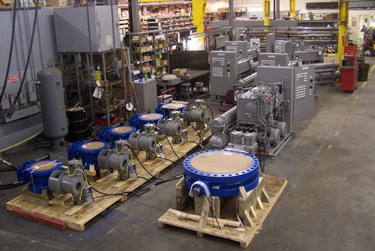 Valves and electrical controls for water pumping station in Jordan