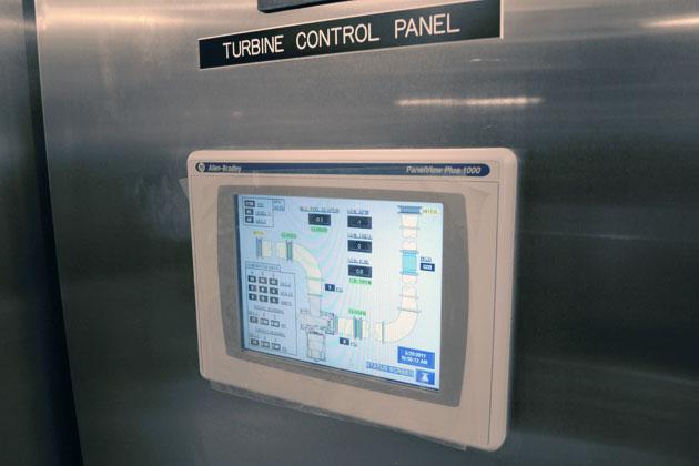 Hydroelectric turbine control panel